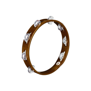 Meinl Wood Tambourine Aluminum Jingles 1 Row African Brown
