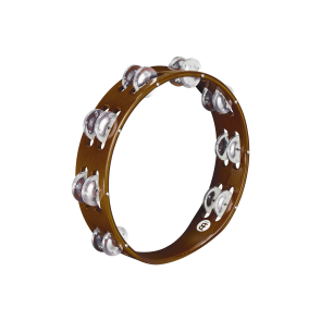 Meinl Wood Tambourine Aluminum Jingles 2 Rows African Brown