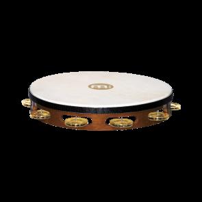 Meinl Headed Wood Tambourine Brass Jingles 1 Row African Brown