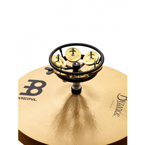 "Meinl Professional Hi Hat Tambourine 5"" Brass Jingles 1 Row Black"