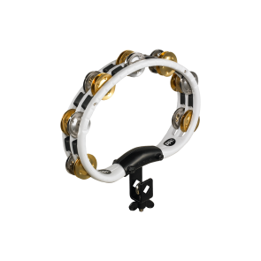 Meinl ABS Mountable Tambourine Recording Combo Dual-Alloy Jingles White