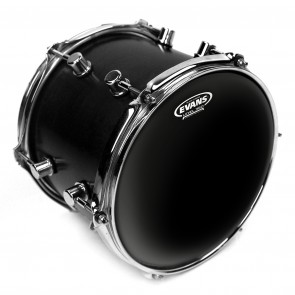 "Evans 18"" Black Chrome 2-Ply Drum Head"