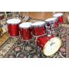 Consignment 1985 Gretsch USA Custom Maple Drum Set, Rosewood Finish, 10,12,13,14,16,20 RIMS, Tama Mnts, Fiber Cases