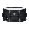 "TAMA Metalworks 6.5""x14"" Steel snare drum with Matte Black Shell Hardware"