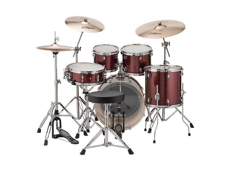 ludwig element evolution drum set with hardware zildjian zbt cymbals 20 bass drum configuration. Black Bedroom Furniture Sets. Home Design Ideas
