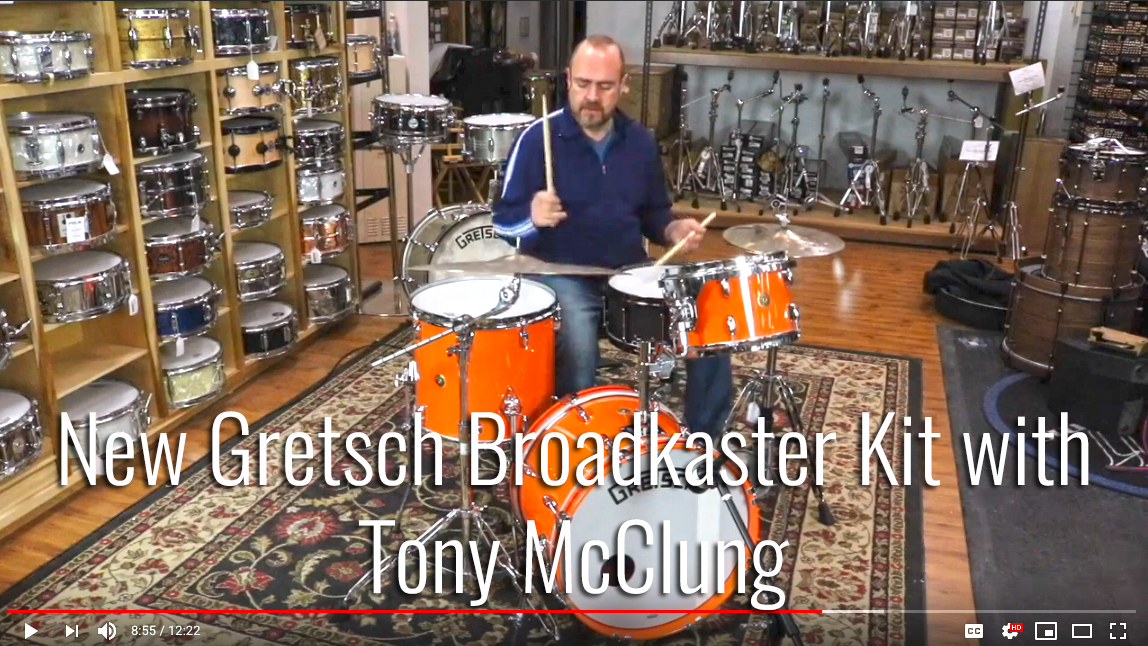 New Gretsch Broadkaster Kit with Tony McClung