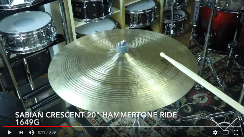 Sabian Crescent 20 Hammertone Ride demo