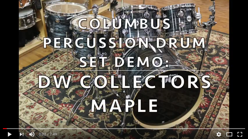 dw drum workshop collectors series maple drum kit / set