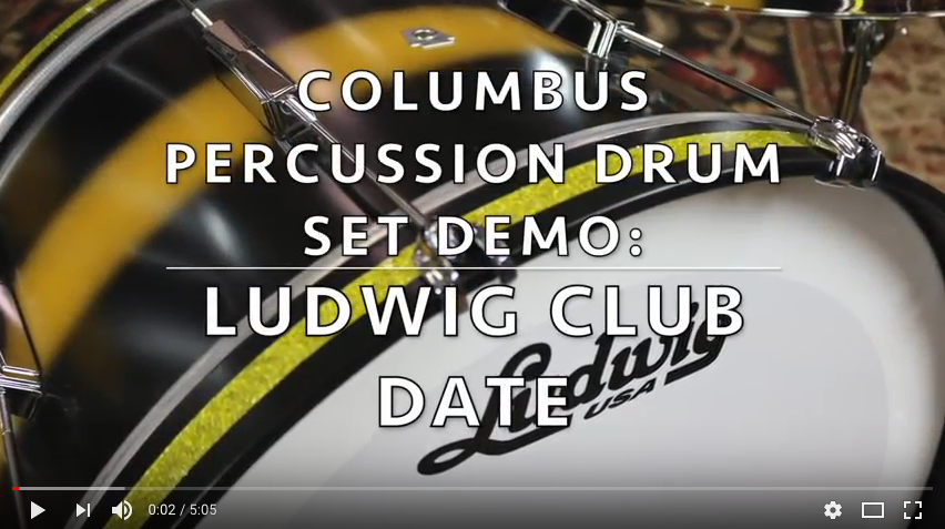 ludwig club date drum set kit Black Duco